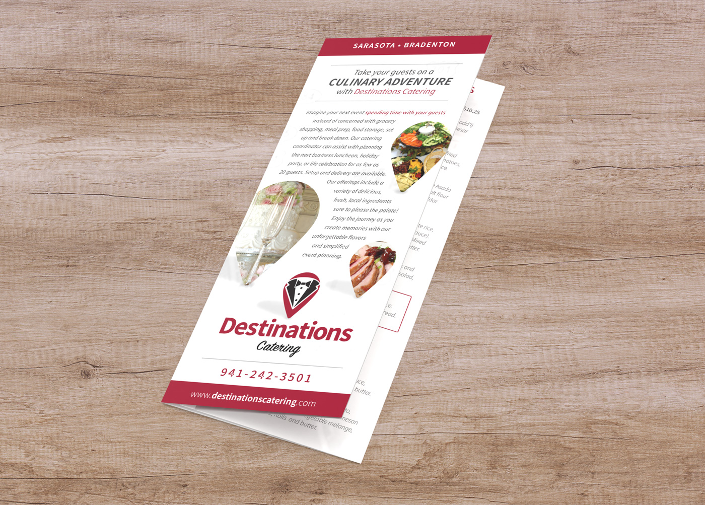 Destinations Catering Menu Design