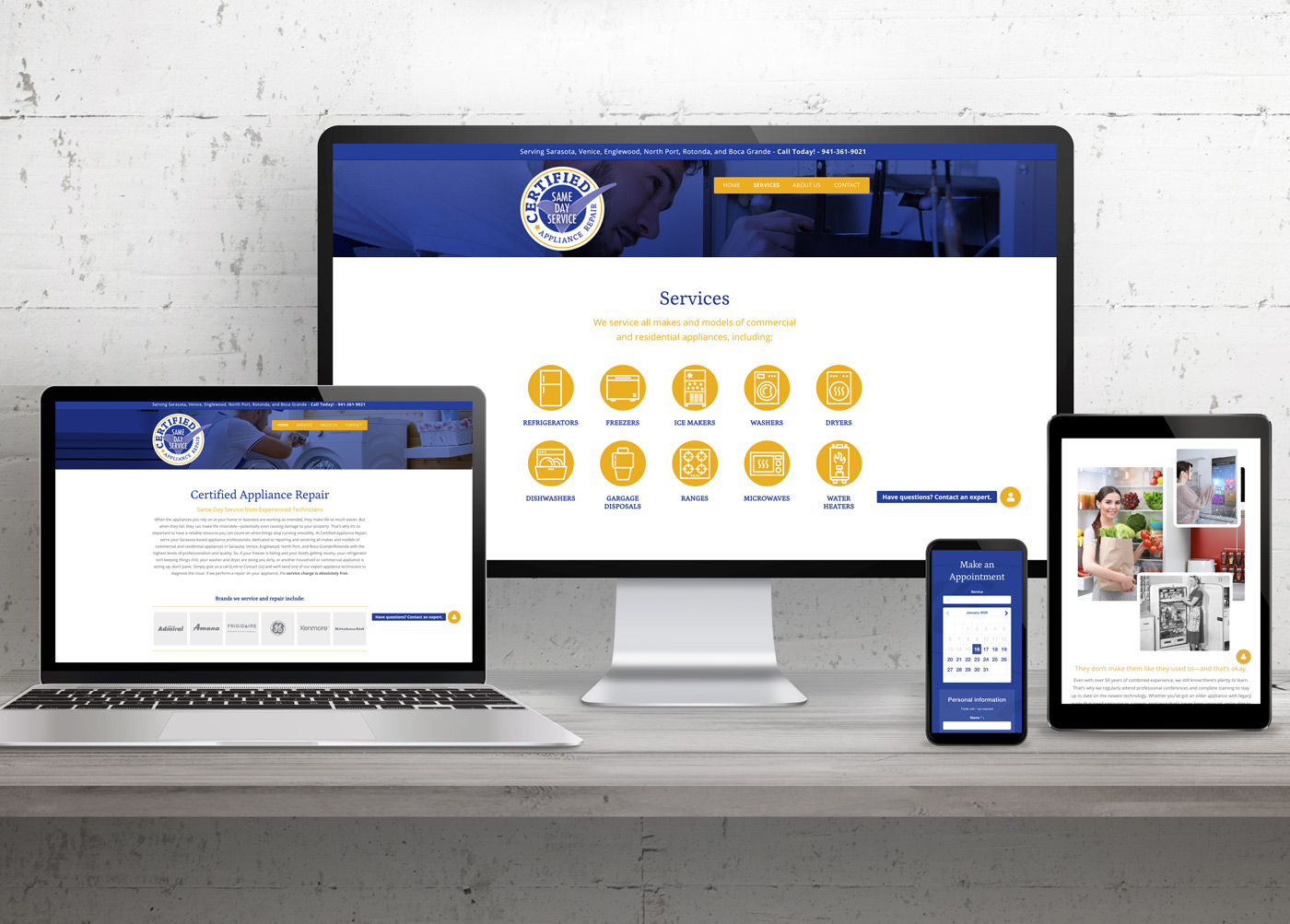Certified Appliance Repair Website