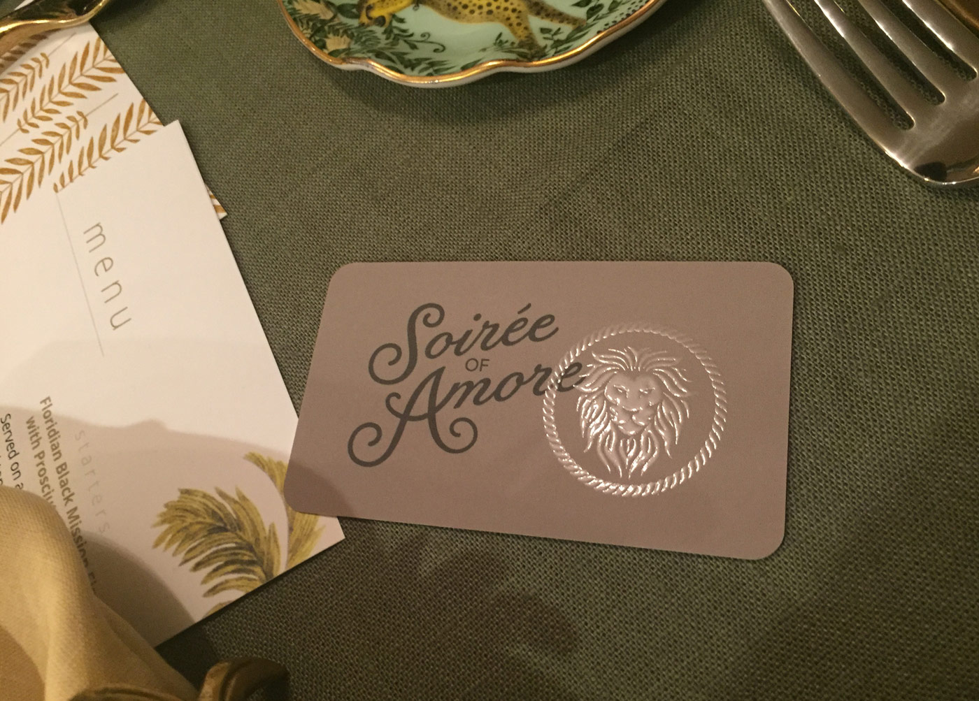 Soirée of Amore Logo & Business Card