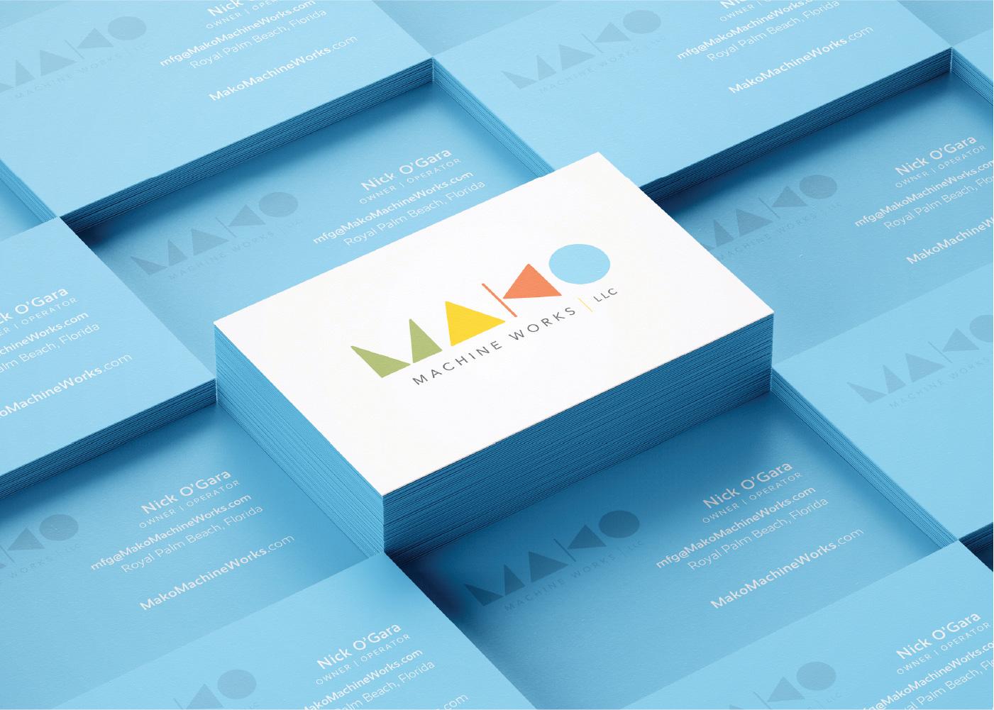 MAKO Machine Works Logo & Business Card