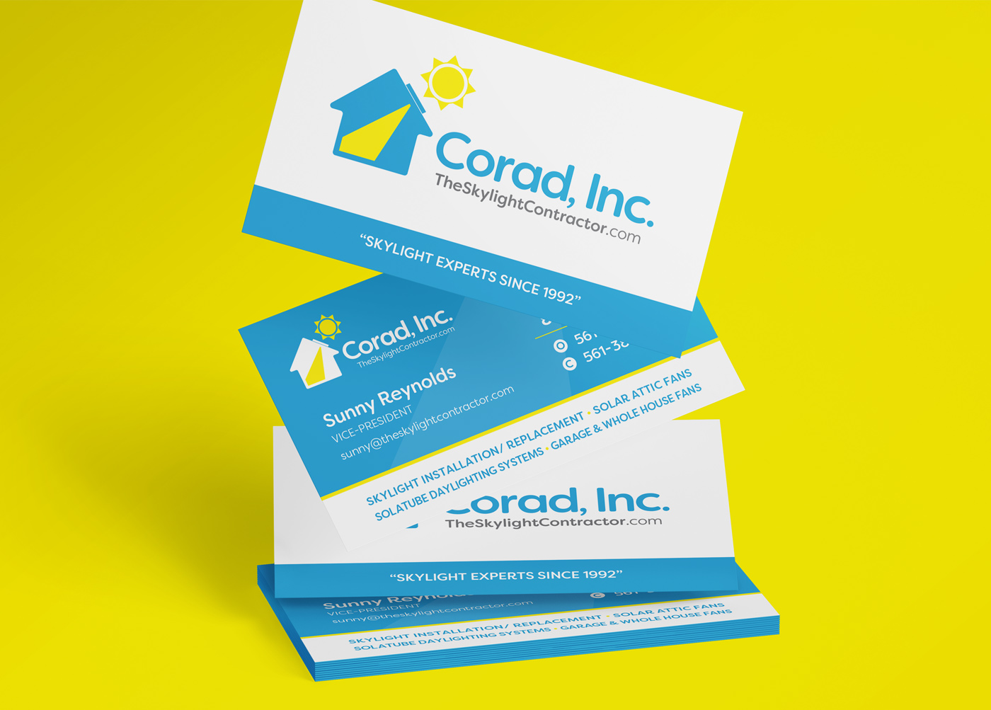 Corad Inc. Logo and Business Cards