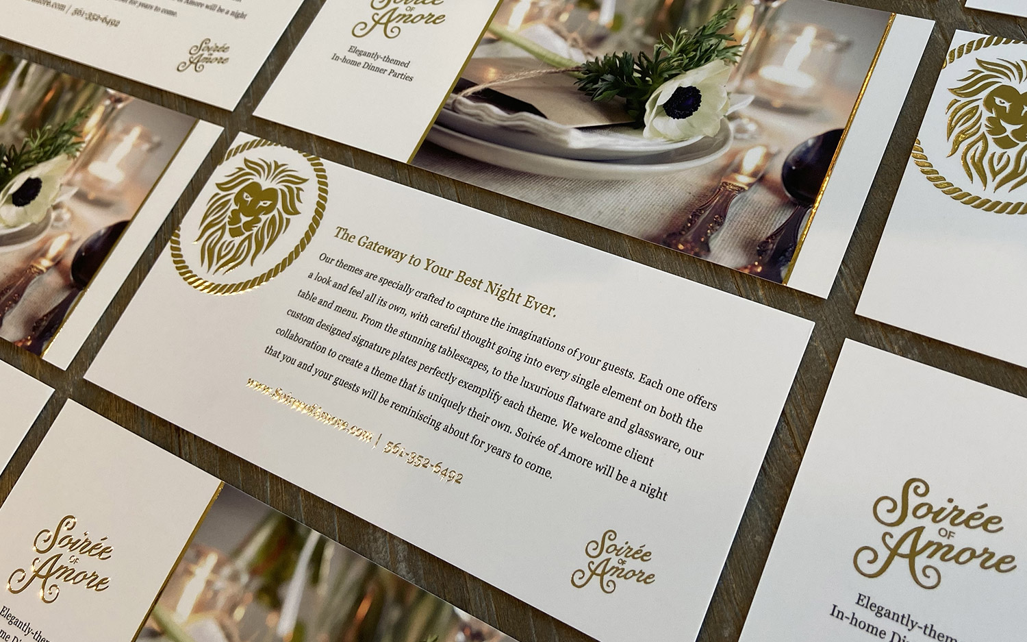 Soirée of Amore – Promo Cards